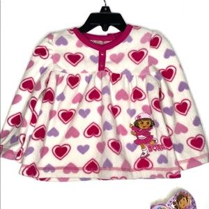 Dora the Explorer Graphic Long Sleeves Fleece